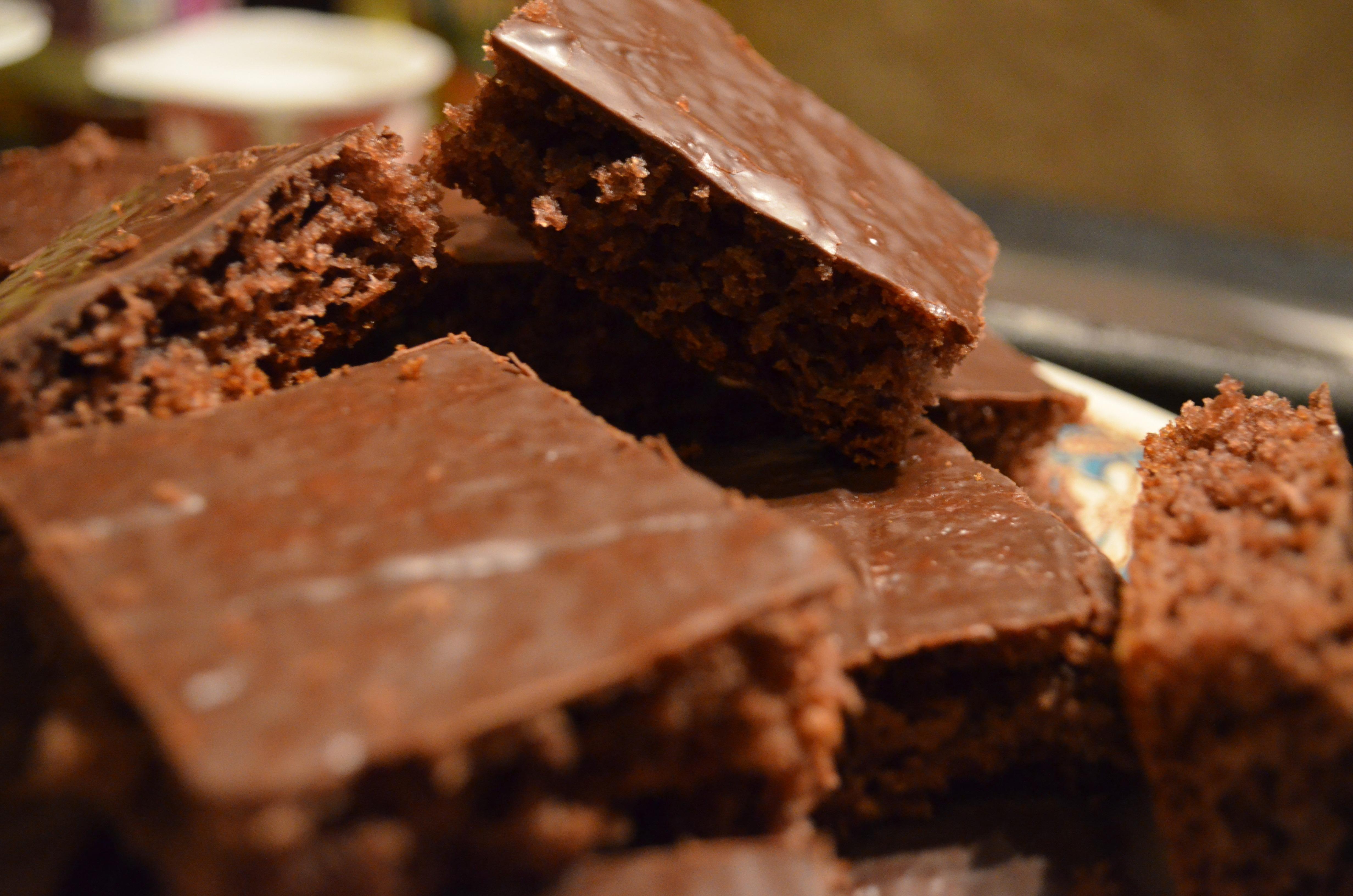 Zachte speculaas met een laag van chocolade
