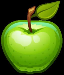 tekening groene appel-vrij kopie