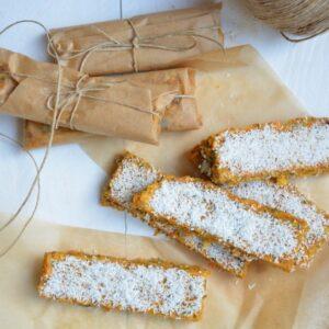 Suikervrije worteltaart repen