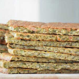 Platbrood van groente: de vervanger voor het sneetje brood!