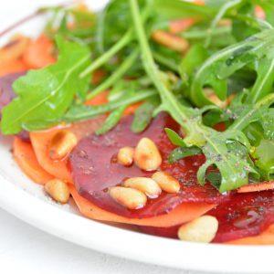 Bieten-wortel carpaccio