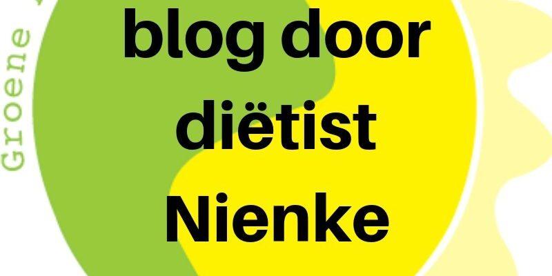 Blog door dietist Nienke
