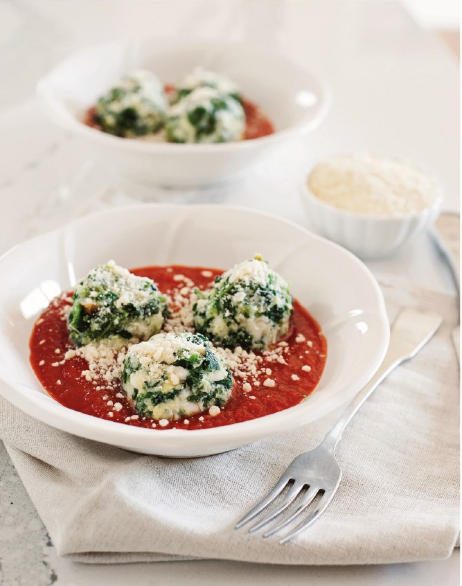 Gnocchi van boerenkool en hüttenkäse