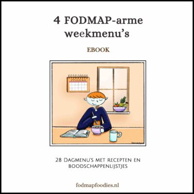 4 FODMAP weekmenu's tablet