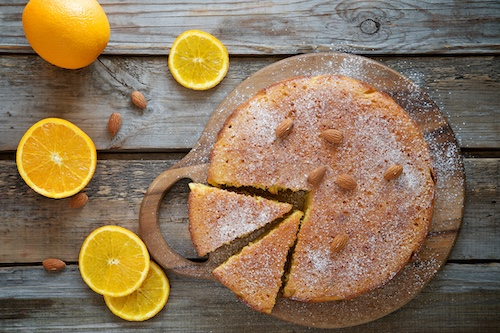 Sinaasappel amandelcake, glutenvrij