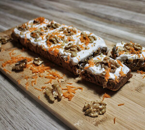 Gezonde carrot cake (low FODMAP, glutenvrij, lactosevrij)