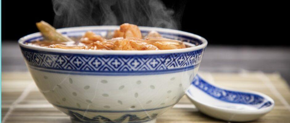 Romige Hollandse garnalen soep
